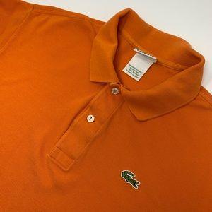 Lacoste Short Sleeve Orange Polo